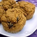 Fat Free Vegan Pumpkin Raisin Muffins Sweetened With Maple Syrup | My Vegan recipes | Scoop.it