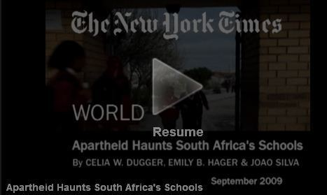 NYTimes Video: Apartheid Haunts South Africa's Schools | Classwork Portfolio | Scoop.it