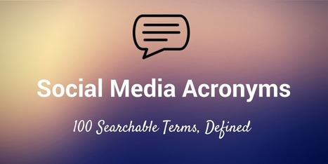 The Ultimate List of Social Media Acronyms and Abbreviations | Sosiaalinen Media | Scoop.it
