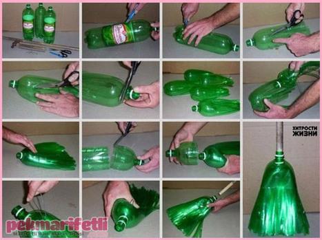 şişeden Süpürge Yapım