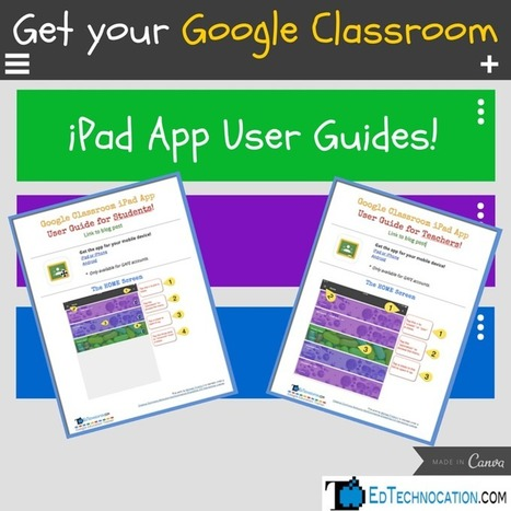 EdTechnocation: Get your FREE Google Classroom iPad App User Guides! | 21st Century tools | Scoop.it