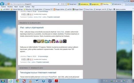 Hyvä blogi samoista asioista | Tablet opetuksessa | Scoop.it