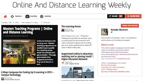 February 12, 2013: Online And Distance Learning Weekly is out | Studying Teaching and Learning | Scoop.it