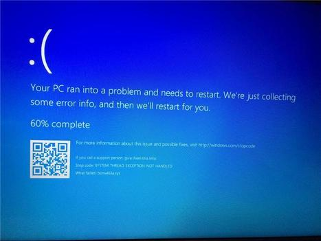 system thread exception not handled windows 10 amd