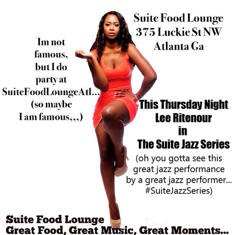 That's this Thursday night Jazz great Lee Ritenour #SuiteLoungeAtl #SuiteJazzSeries #ItsASuiteExperience | GetAtMe | Scoop.it