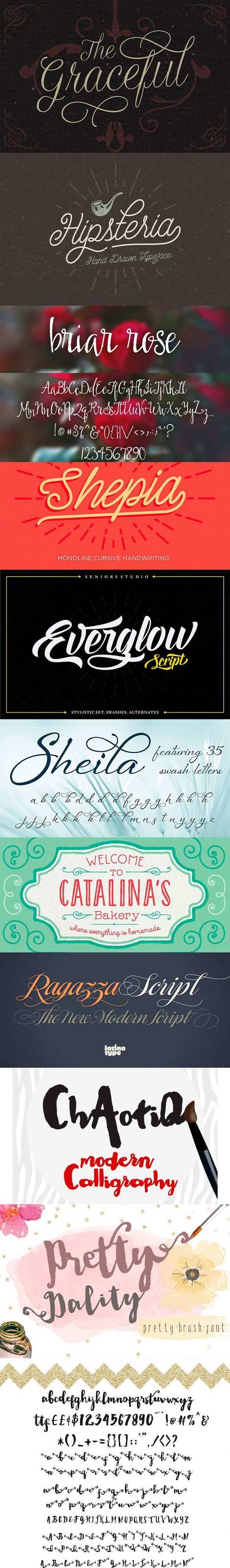 Awesome Script Font Bundle: 10 Gorgeous Typefaces for $27 (rrp $485) | Remi Vee - Social Media | Scoop.it