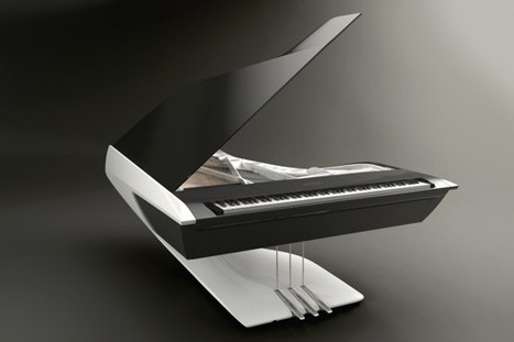 Le piano avant-gardiste de Pleyel | Les tendances déco-design de Moodds | Scoop.it