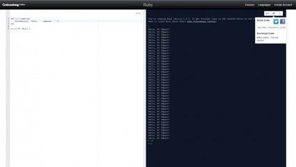 Codecademy lance ses Labs : amusez-vous avec Python, Ruby ou JS | Node.js | Scoop.it