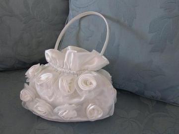Petit sac main blanc pour mariage ro - Petit sac en papier pour mariage ...