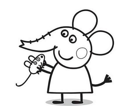 Peppa Pig Coloring Pages In Wallpaper Coloring Pages Scoop It