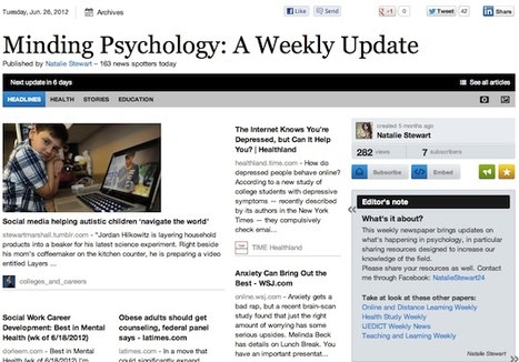 June 26 - Minding Psychology: A Weekly Update | Psychology Professionals | Scoop.it