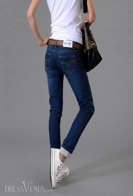 6bd738db3589 Auspicious Korean Style Jeans Pants