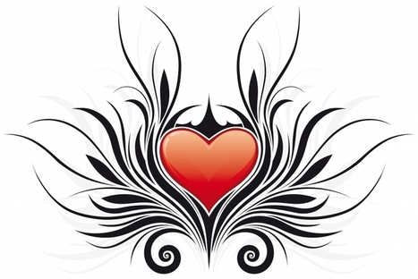 Tribal Heart Tattoo Designs With Sexy Wings For