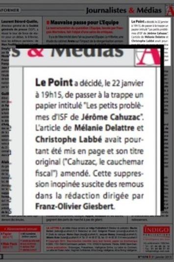 """Quand  Franz-Olivier Giesbert censure pour Cahuzac   Argent et Economie """"AutreMent""""   Scoop.it"""