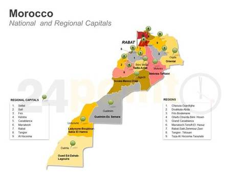 Morocco - Easy to Edit PowerPoint Map | PowerPoint Presentation Tools and Resources | Scoop.it