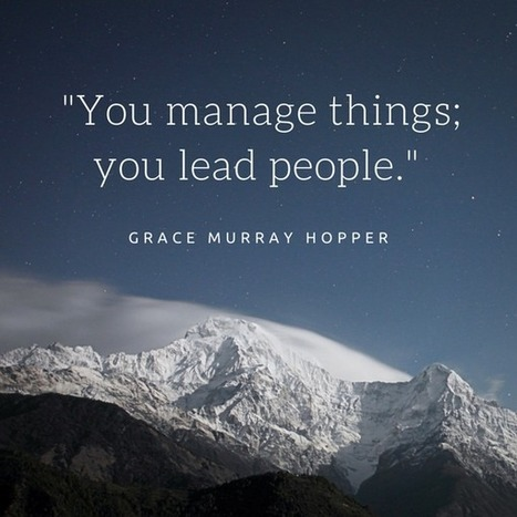 We Need Leaders AND Managers | SCUP Links | Scoop.it