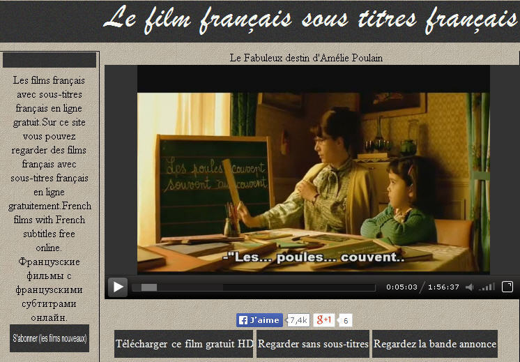 films fran ais avec sous titres en fra. Black Bedroom Furniture Sets. Home Design Ideas