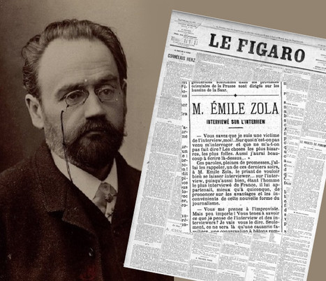 Émile Zola interviewé sur l'interview | DocPresseESJ | Scoop.it