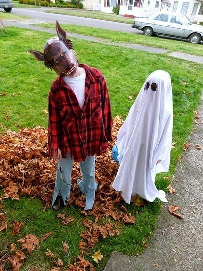 Fabriquer un d guisement de carnaval pou - Fabriquer fantome halloween ...