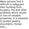 Buying best burglary safe