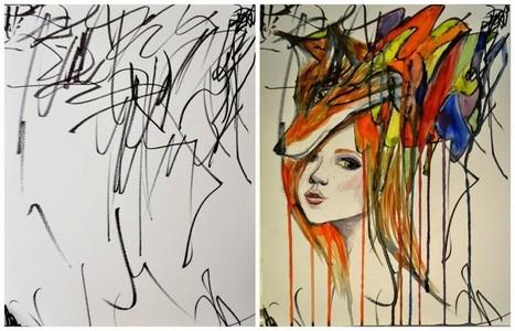 Des peintures à partir des gribouillis de sa fille | Les princesses de Marie | Scoop.it