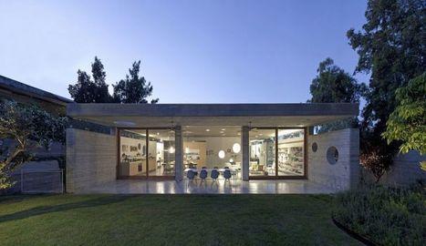 discrte maison contemporaine avec toiture en bton massif en isral - Maison Moderne Avectoiture
