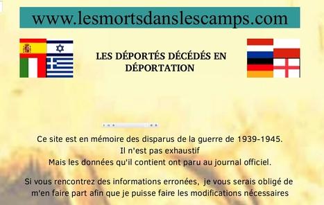 Les déportés morts en déportation | Nos Racines | Scoop.it