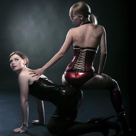Lesbian in handcuffs