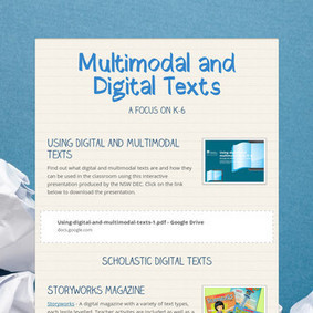 Multimodal and Digital Texts | Hogan's Learning Links | Scoop.it