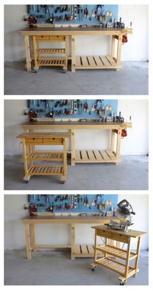 Ikea Kitchen Island as a Mobile Workshop Bench | IKEA Hackers Clever ideas and hacks for your IKEA | BricoService - Manutenzioni residenziali | Scoop.it