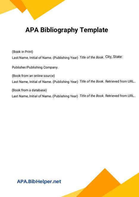 apa bibliography template bibliography sample