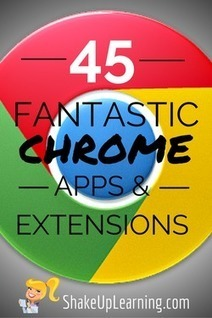 45 Fantastic Chrome Apps and Extensions! | Transformational Teaching and Technology | Scoop.it