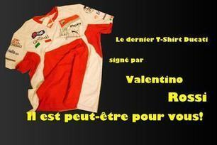 Win the last T-shirt signed by Valentino Rossi Ducati | Ductalk Ducati News | Scoop.it