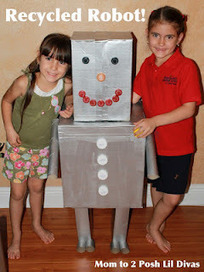 Mom to 2 Posh Lil Divas: Kid Craft: Recycled Robot! | Jardim de Infância | Scoop.it