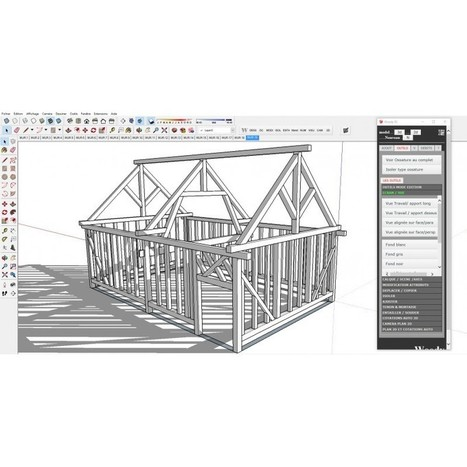 charpente bois sketchup