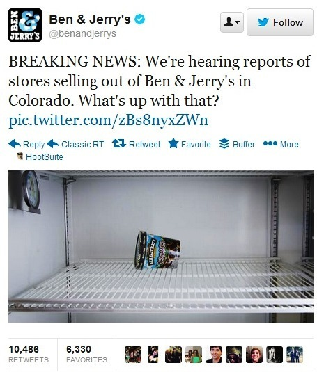 Ben & Jerry's tap into Colorado controversy with clever Tweet | Public Relations Australia | Scoop.it