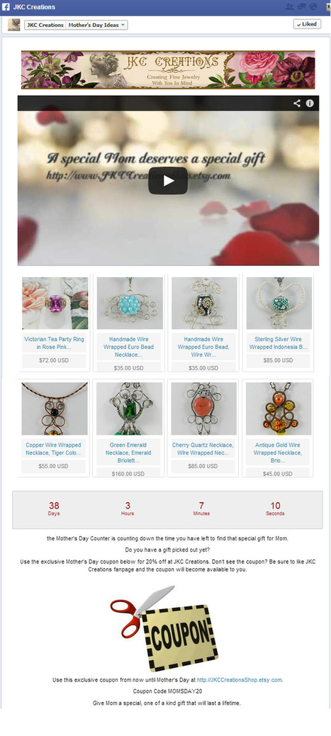 Etsy Jewelry Seller Nearly Quadruples Her Facebook Reach with Fanpageology in Just One Week!   Social Media Magic   Scoop.it