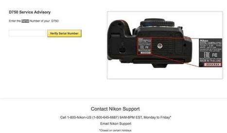 Nikon D750 serial number checker for shutter re