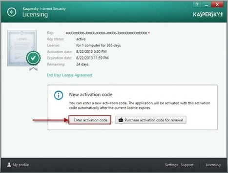code dactivation kaspersky 2013