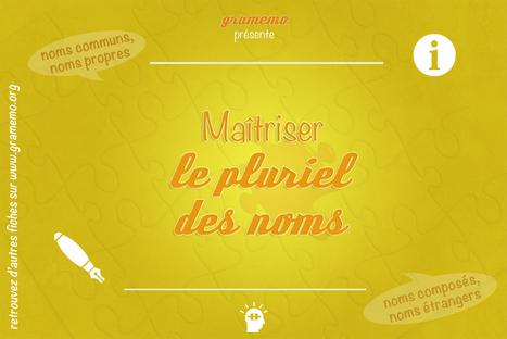 Gramemo » Maîtriser le pluriel des noms | POURQUOI PAS... EN FRANÇAIS ? | Scoop.it
