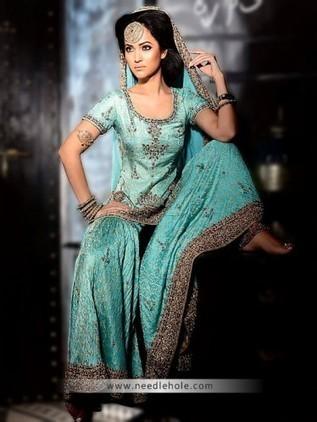 Beautiful wedding gharara suit for walima recep...