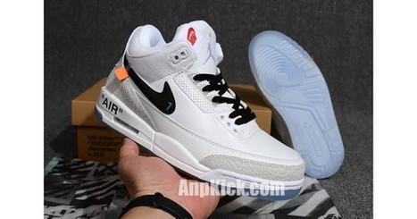 24732d2e19c1 Off-White x Air Jordan 3 OG Retro 3s White Cement Custom Jordans Sneakers