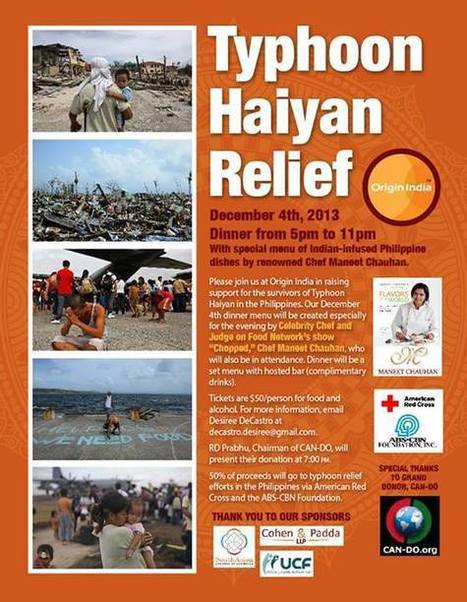 Origin India December 4th Typhoon Haiyan Relief Fundraising Dinner | Yellow Boat Social Entrepreneurism | Scoop.it