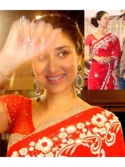 KAREENA KAPOOR IN RED NET DESIGNER SAREE B-10- Shop and Buy Online at Best prices in India. | online shopping | Scoop.it
