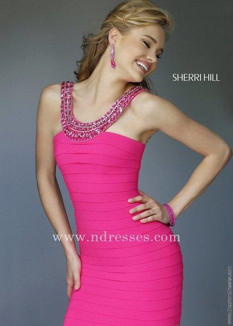 7ee0dc414adb Nifty Sherri Hill Style 32284 Scoop Neckline Fuchsia Homecoming Dresses  Sherri  Hill 32284 Fuchsia  -  189.00   Prom Dress Store