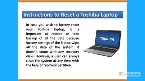 toshiba laptop factory reset time