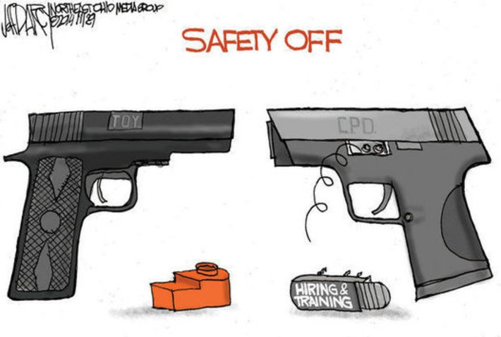 Tamir Rice shooting tragedy: Editorial cartoon from Cleveland.com   Thumpy's 3D Airsoft & MilSim EVENTS NEWS ™   Scoop.it
