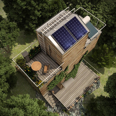 A cross-shaped, self-sufficient micro home built from containers | PROYECTO ESPACIOS | Scoop.it