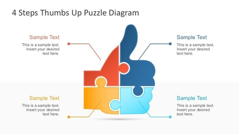 4 step thumbs up puzzle powerpoint template p