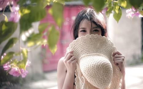 Cute Shy Girl Hiding With Hat Wallpaper Hd Wa